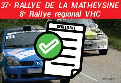 Le réglement du Rallye de la Matheysine