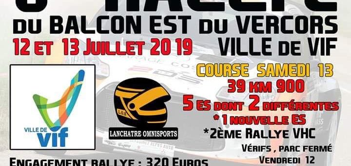 Horaires convocation Rallye Balcon EST