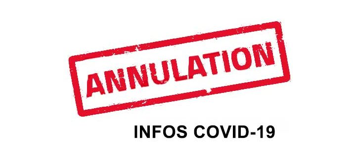 Annulations cause covid-19