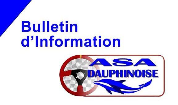 Extrait du bulletin d'information du Comité directeur de l'ASA Dauphinoise, le 7 Mai 2020