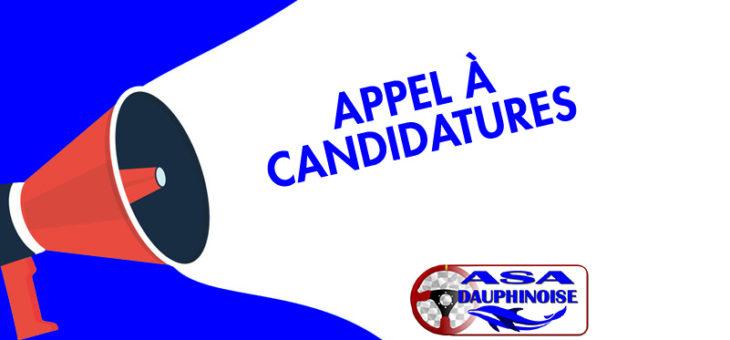 APPEL A CANDIDATURES au COMITE DIRECTEUR de l'ASA DAUPHINOISE